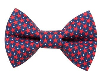"Cat Bow Tie - ""The Oh My Stars"" -  Patriotic Stars - LIMITED"