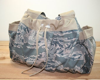 ABU Air Force Multipurpose Tote Overnight Bag Diaper Bag Military Tiger Stripe Camo