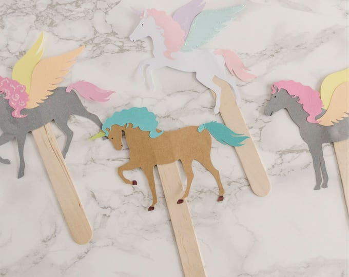 Featured listing image: Unicorn Crafts, Kids craft kit, unicorn party supplies, Unicorn Kit, diy craft kit, paper dolls, Unicorn Party Favors, kids gift, Set of 50