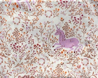 Heather Ross Far Far Away Windham fabrics Unicorn lilac FQ or more OOP HTF