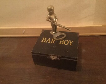 Novelty Bar Ware, Bar Boy Corkscrew Opener, Humorous Corkscrew, Man Cave / She Cave Bar Ware Accessory