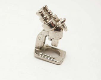 Vintage Sterling Microscope Charm