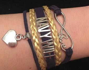 Navy Wife Infinity Bracelet