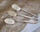 3 Antique Silver Plate Jelly Spoons Spreaders - Assorted Patterns (#1)
