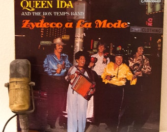 "ON SALE Queen Ida Vinyl Record Album LP 1970s New Orleans Cajun Zydeco Creole Dance Party Bayou Louisiana Fun Joy ""Zydeco A La Mode"" (1977 G"