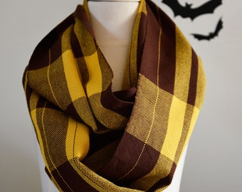 MADE TO ORDER – Handwoven Cotton Loop Football Scarf – Hawthorn