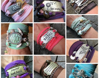 Wholesale Boho, Wholesale Jewelry, Jewelry Wholesale, Wrap Bracelets, Silk Wrap Bracelets, Boho Jewelry, Boho Bracelets, Boho Wrap Bracelets