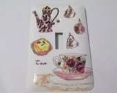 Tea Party themed light switch covers - Custom order for Candace