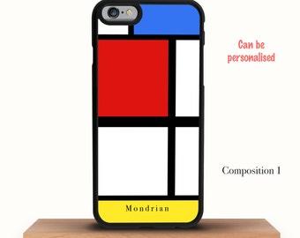 Personalised Mondrian iPhone 6 Case - iPhone 7 Case, iPhone 7 Plus Case, iPhone 6/6S Case, iPhone 6/6S Plus Case, iPhone 5/5S/5C Case