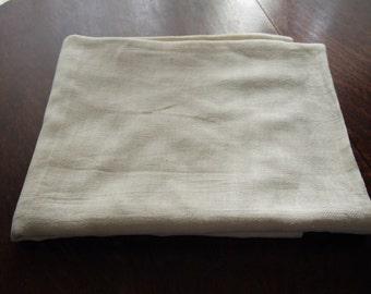 Antique Linen Sheet Handwoven Twill Fabric
