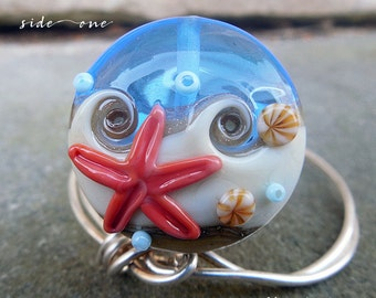 Beachcomber 35 SSL Lampwork Focal Bead