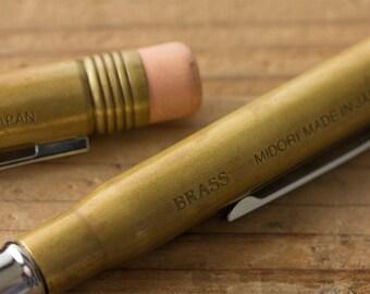 Midori BRASS Ballpoint Pen / Pencil travelers company
