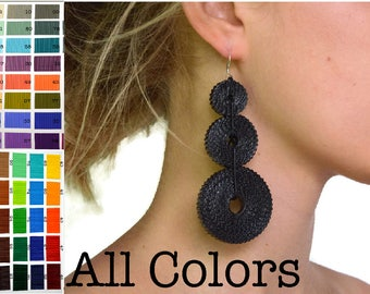 All COLORS: Earrings TRICLO made of corrugated cardboard