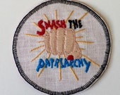 Smash the Patriarchy Hand Embroidered SewOn Patch