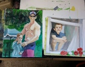 Reserved for Jeff, two watercolors each 11 by 17 inches Kenney Mencher www.Kenney-Mencher.com