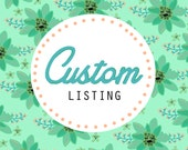 Custom Listing for Claire