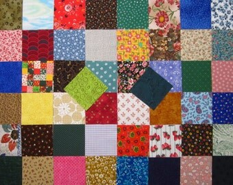 50 Assorted 3 inch Fabric Squares Vintage and Newer Calico Scraps Quilting Charm Pack Cotton Set 4