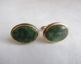 Jade Gold Filled Cuff Links by Dolan and Bullock