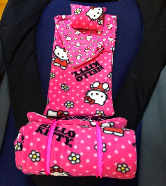 Hello Kitty Cuddle Pillow: Hello Kitty Sleeping Bag American Girl Doll 18 Doll