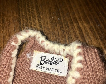 vintage Barbie brown knit sweater vest by mattel