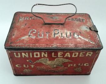 Union Leader Tobacco Tin Vintage