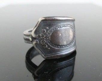 Vintage Spoon Ring - Silver Tone, Size 7 1/4