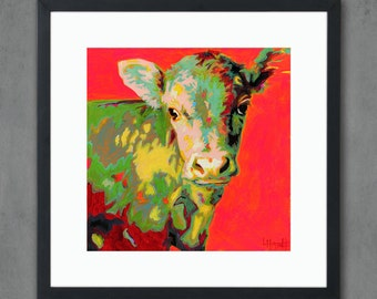 Cow Giclee Art Print from Original Painting - Signed Cattle Limited Edition