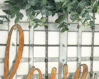 Love Rusty Metal Letters Sign Wedding Decor