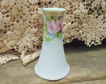 Nippon Hatpin Holder. Spoke Mark. Hand painted Nippon. Hatpin Holder. early 1900s Nippon. Nippon Porcelain. Nippon Vase. Porcelain gift idea