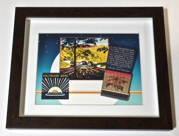 Hollywood Bowl Collectible Matchbook Art 1945 Hollywood Wall