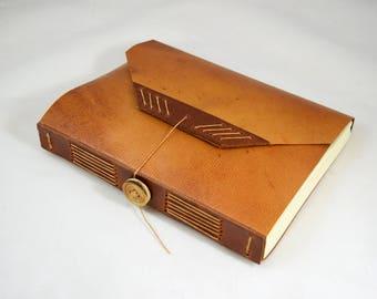 SCA Vigil Book Limp Parchment Binding with Button Closure