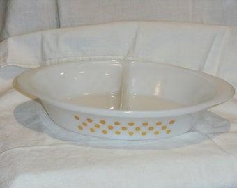 Vintage Glassbake Divided Dish