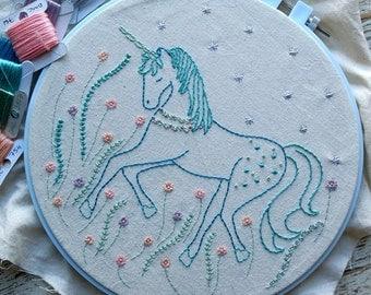 unicorn hand embroidery pattern pdf