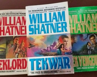 William Shatner TekWar, TekLords, TekVengeance books, 1990s sci-fi, science fiction