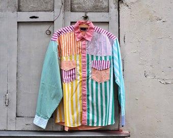 Retro Naf Naf Shirt in Stripe Delight