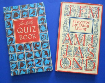 Proverbs for Daily Living and The Little Quiz Book, Two Vintage Peter Pauper Press Books
