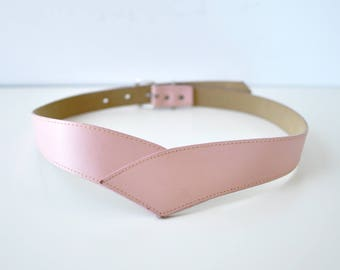 Corset Belt • 80s Belt • Pink Leather Belt • Statement Belt • Cinch Belt • Vintage Belt • Pink Belt | BT271
