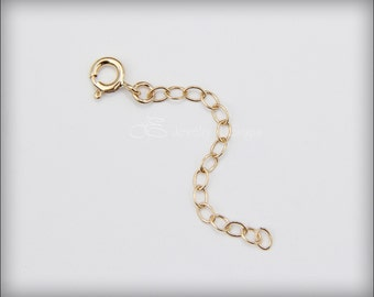 EXTENDER CHAIN - yellow gold filled extender chain, sterling silver extender chain, rose gold filled extender chain
