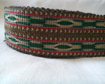 Uzbek wide handwoven cotton trim Jiyak. Tribal ethnic, boho, hippy trim. TR010