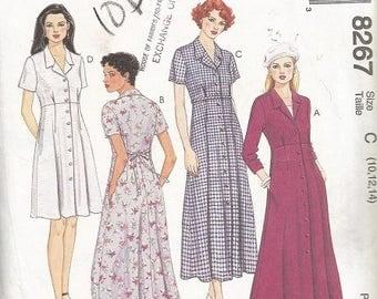 McCall's 8267 Misses Dress Pattern SZ 10-14
