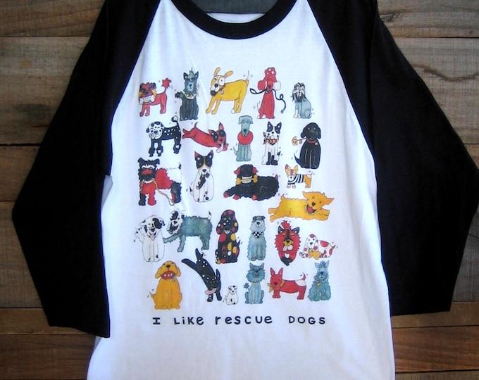 Rescue Dogs Unisex Baseball T Shirt