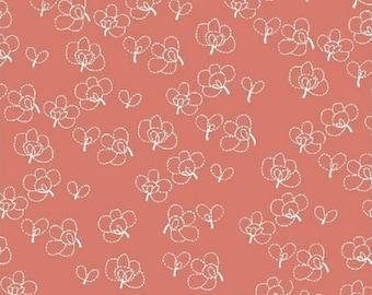 Lotta Jansdotter Fabric - Lilla - Rue11 in Coral