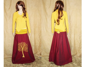Yellow assymetric, pointy earthy, faery, fairy top woodland S-M