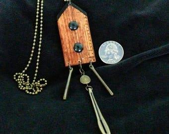 OOAK Birdhouse Necklace, Handmade, from Bluebird Creations, Item #2015