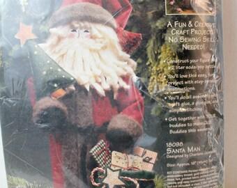 Santa sewing kit, bottle art, craft set 1808 Dimensions