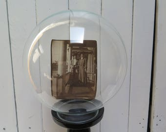 Vintage Round Glass  Specimen Apothecary Cloche Display -  water globe Aquarium Vase