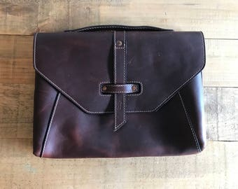 SECONDS - The Valet Luxury Laptop Bag for iPad Pro 9.7 and Macbook 12inch - Chestnut (See photos)