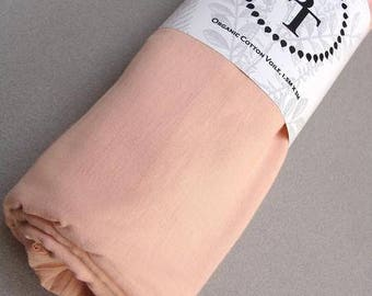"""Naturally Dyed Voile-Rose-63"""" wide"""