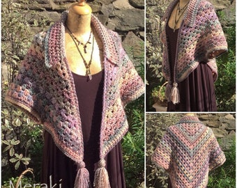 Crochet Shrug, Cardigan, Shawl, Cozy Pixie Shrug