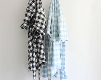 The Summer Gingham Robe - 3 colors